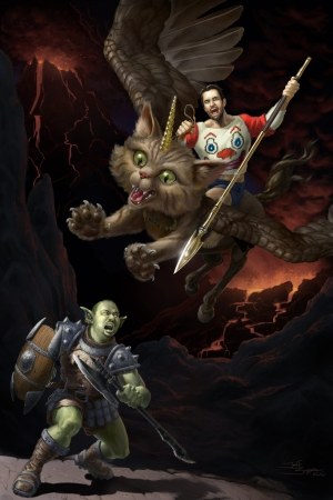 Wil Wheaton and John Scalzi Fanfic Contest Painting