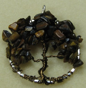 Tree of Life pendant with Tiger's Eye