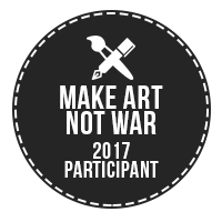 Make Art Not War 2017 Challenge Participant Badge