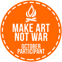 Make Art Not War October Challenge Badge