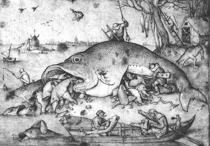 Pieter Bruegel the Elder | Big Fish Eat Little Fishes | 1556 C.E.